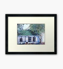 Old semi-detached house in Piketberg Framed Print
