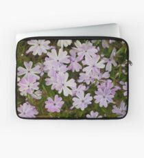 Green and Purple Watercolor Floral Pattern Laptop Sleeve