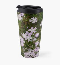Green and Purple Watercolor Floral Pattern Travel Mug