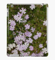 Green and Purple Watercolor Floral Pattern iPad Case/Skin