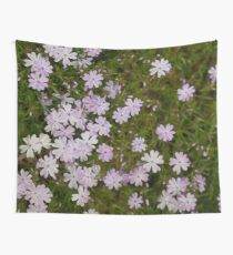 Green and Purple Watercolor Floral Pattern Wall Tapestry