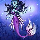 Metro&medio Designs - Purple mermaid by metroymedio