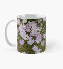 Green and Purple Watercolor Floral Pattern Classic Mug