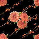 peony and plum flower black by hahaha-creative