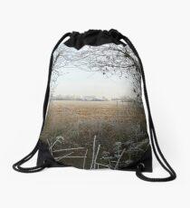 Framed Winter Drawstring Bag