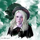 (Alternative Background) Portrait Painting Inspired by Babydoll from Sucker Punch by stringerthings