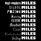 Miles Davis Styles BeBop Cool Classic Fusion Jazz (light design) by bauwau-design