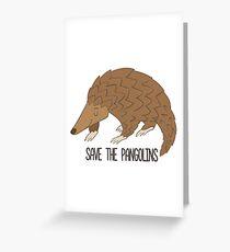 Speichern Sie das Pangolins-nette Pangolin-Geschenk Grußkarte