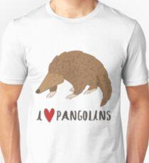 Ich liebe Pangolins Nettes Pangolin Liebes-Herz-Geschenk Slim Fit T-Shirt