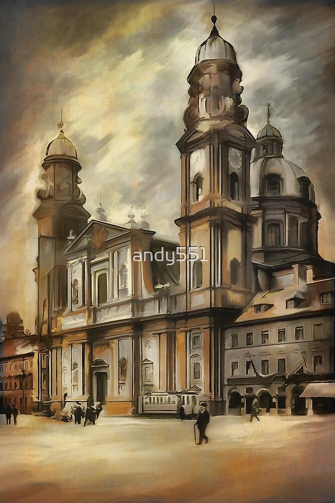 Theatine Church, Munich 1900 by andy551