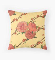 peony and plum flower white Floor Pillow