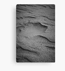 Sand formed by wind Canvas Print