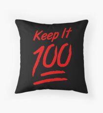 Keep It 100 Throw Pillow