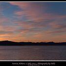 Sunrise panorama, Hobart, 17 July 2010 by Odille Esmonde-Morgan
