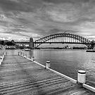 Harbour Views Wharf (Mono) by Jason Ruth