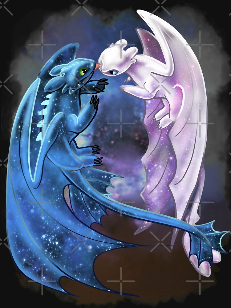 Quot Dragon Heart Starry Dragons Toothless And Light Fury