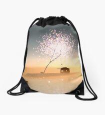 Barn on a magical island. Drawstring Bag