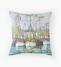 "Paul Signac ""Bénédiction des thoniers à Groix"" Floor Pillow"