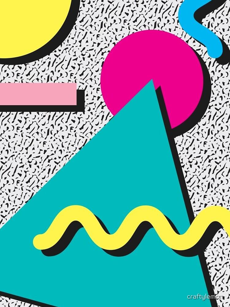 80er Jahre abstraktes Muster von craftylemon