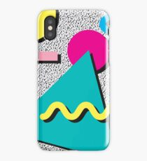 1980s Abstract Pattern iPhone Case
