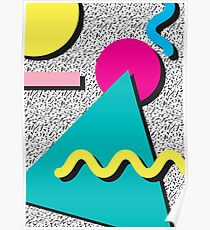 1980s Abstract Pattern Poster