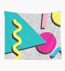 1980s Abstract Pattern Wall Tapestry
