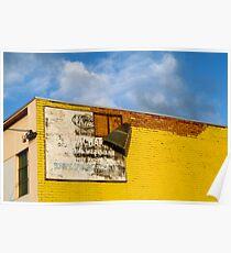 Shady Billboard on Yellow Wall Poster