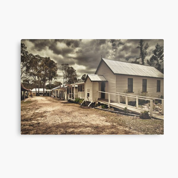 Outback Town Metal Print