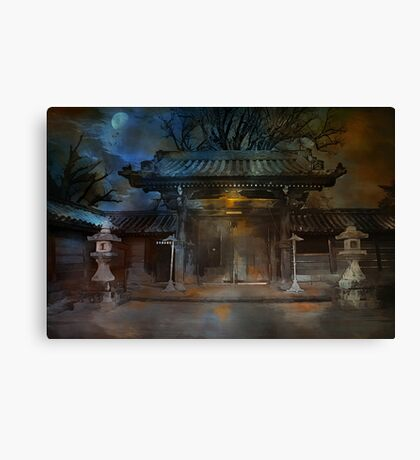 GATE..Asian  Moon. Canvas Print