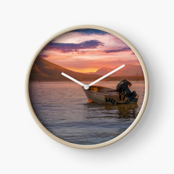 Another beautiful sunset at Lake Moogerah Clock