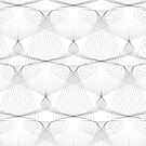 black and white shapes pattern by DaphnaDotan