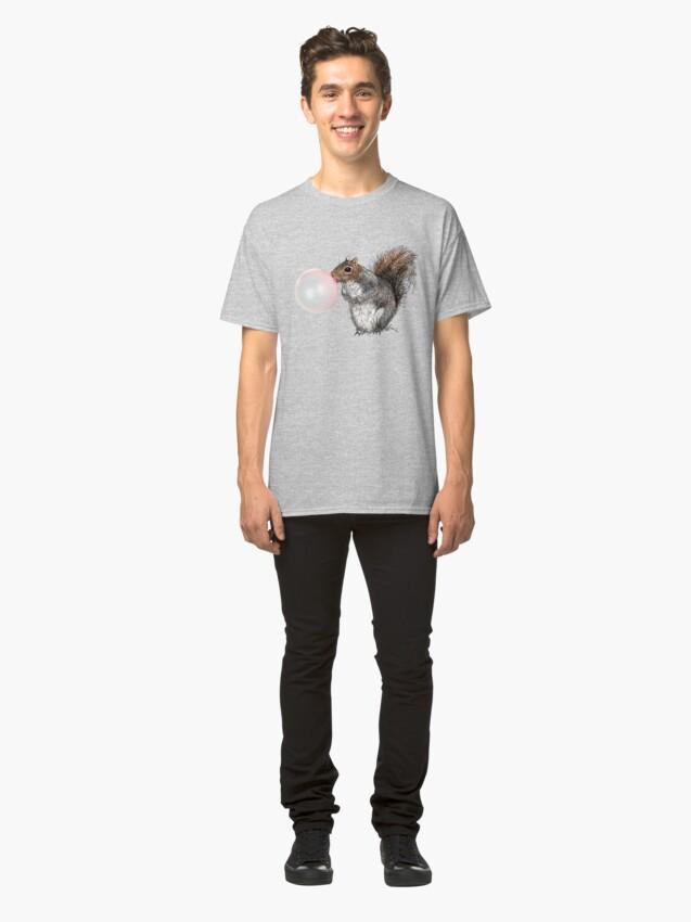 Alternate view of BubbleGum Bubble Squirrel Greeting Card Classic T-Shirt