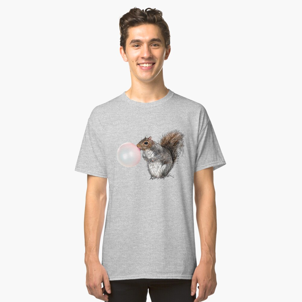 BubbleGum Bubble Squirrel Greeting Card Classic T-Shirt