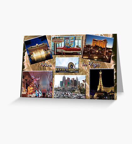 Viva Las Vegas Collage Greeting Card