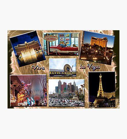 Viva Las Vegas Collage Photographic Print