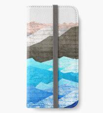 Die Berge und das Meer iPhone Flip-Case/Hülle/Klebefolie