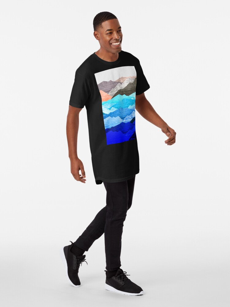 Alternate view of The mountains and the sea  Long T-Shirt