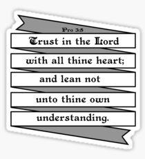PROVERBS 3:5  - RIBBON BANNER Sticker