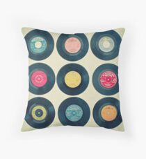 Vinyl Collection Throw Pillow