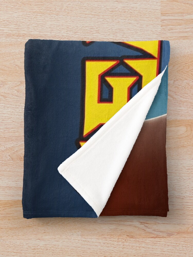 Alternate view of Seattle Totem Pole vintage style travel poster Throw Blanket