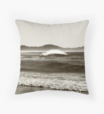 Winters Wave Throw Pillow