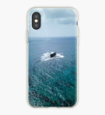 A shipwreck in the middle of the sea iPhone Case