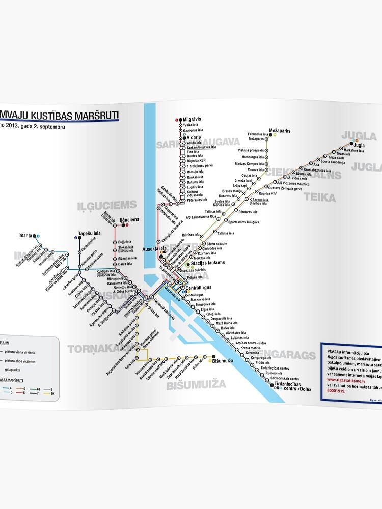 Riga Subway Map.Latvia Riga Riga Tram Routes Map Hd Poster