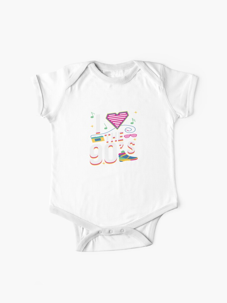 I Love 90s Nineties Fancy Dress Theme Party Gift | Baby One-Piece