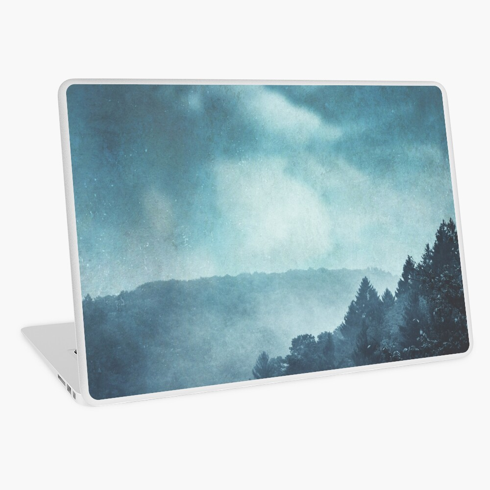 Blue Hills In Mist Laptop Skin