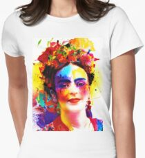 """""""Frida Kahlo"""" Womens Fitted T-Shirt"""