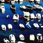 Water colour Boats in the Harbour - Dubrovnick by mikequigley