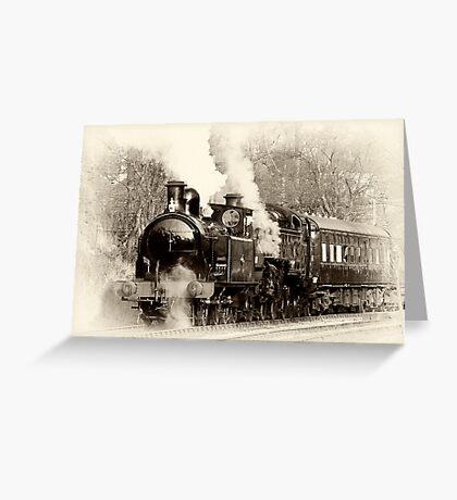 Vintage Steam Greeting Card
