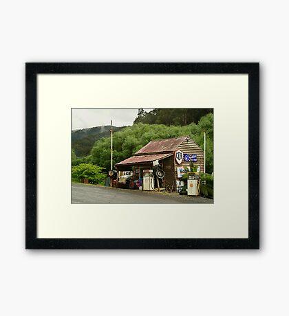 Wood's Point Service Station Framed Print