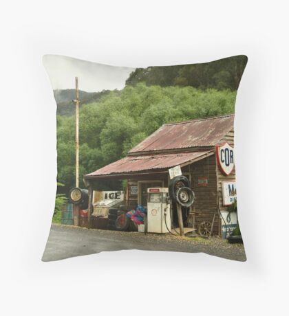 Wood's Point Service Station Throw Pillow